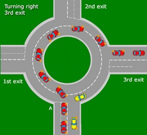 turning-right-on-roundabout